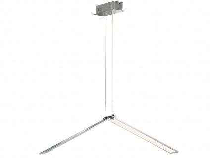 Design LED Pendelleuchte Nickel matt Leuchtenkörper 26, 5W dimmbar - Esszimmer