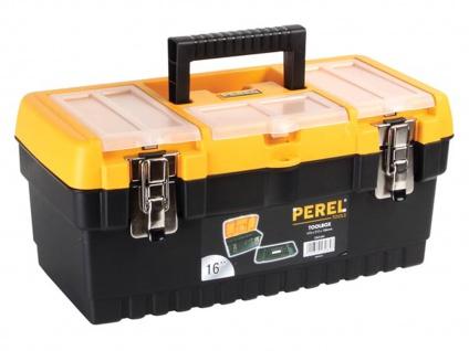 Werkzeugkiste Kunststoff mit Ablage + Easy Work Magnet, Werkzeugkasten leer Box - Vorschau 3