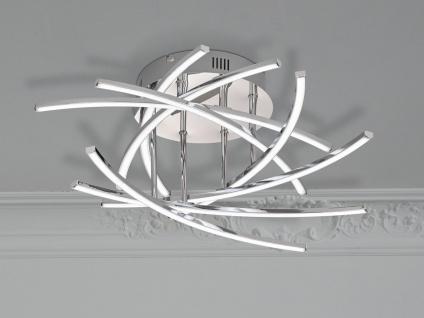 Dimmbares LED Deckenlicht 55cm mit Fernbedienung, Deckenlampe Lichtfarbe ändern