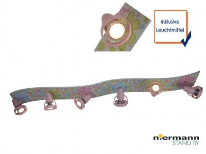 LED Strahlerleiste 115cm 6 Spots schwenkbar Beleuchtung Kinderzimmer Strahler