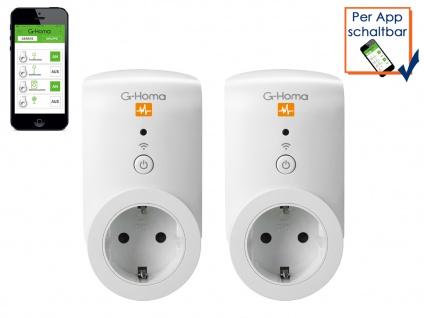 G-Homa 2er SET WiFi Schaltsteckdose Energiekostenmessfunktion per Smartphone-App