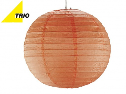 Trio Lampenschirm Japan-Kugel PAPER Papier orange Ø 40cm, Pendelleuchte Lampion