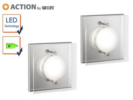 2er Set LED Wandleuchte ENVY, Chorm, Wandlampe Wandleuchte LED Designerlampe