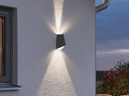 2er-Set Up/Down Außenwandleuchte IMOLA, anthrazit, 8W HP-LEDs IP54 - Vorschau 5