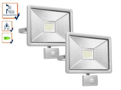2er-Set LED Fluter mit Bewegungsmelder, 50W, 4150 Lumen, 100° x 10 Meter