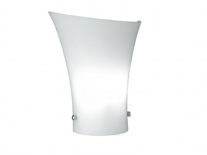 Wandleuchte, Glas weiß, inkl. Osram-Leuchtmittel, Wofi-Leuchten