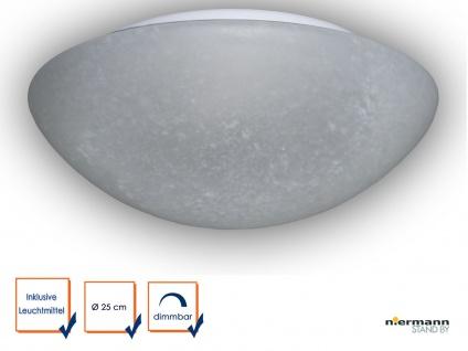 LED Glasleuchte PERGAMENT Design Ø 25cm LED Deckenlampe rund Glas Küchenlicht