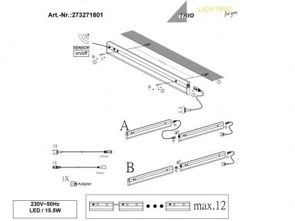 2er Set LED Lichtleisten 77, 7cm Unterbauleuchte mit Bewegungssensor Küchenlampen - Vorschau 5