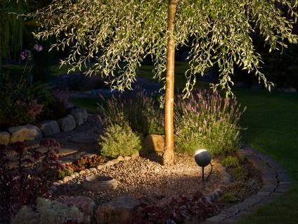 2er-Set LED-Erdspießstrahler Gartenstrahler LECCE 40cm Alu, schwenkbar, 4W - Vorschau 5