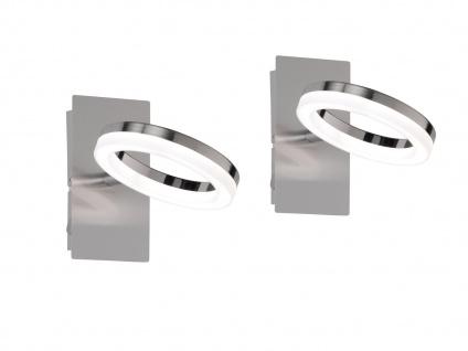 2er Set LED Wandlampe SCARLETT mit Schalter, Wandspot LED Spot Wandleuchte