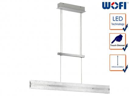 Silberne LED Pendelleuchte dimmbar höhenverstellbar 14, 5W, Pendel Esstischlampe