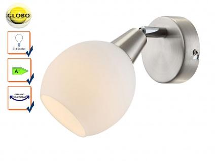 LED Wandleuchte Wandstrahler ELLIOTT, Glasschirm, Wandlampe Leselampe schwenkbar