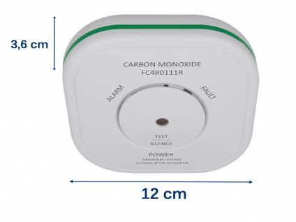 Sicherheitsset: 2 Funkvernetzte Rauchmelder + Kohlenmonoxidmelder, Lebensretter - Vorschau 5