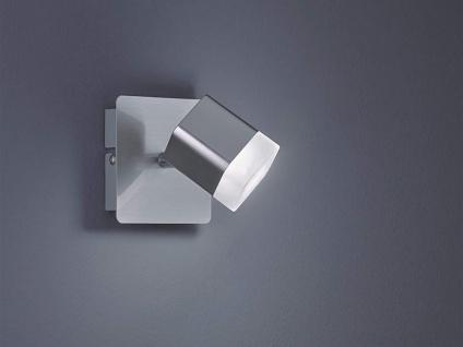Kleiner LED Wandstrahler 1 flammig Silber matt 10x10xcm - Treppenhausbeleuchtung