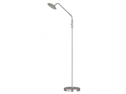 Flexible LED Stehhleuchte Leselampe Nickel/Chrom 12W H. 150cm Wohnzimmerlampen