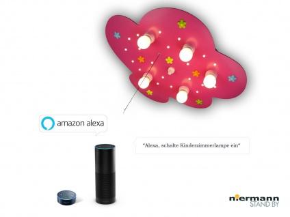 Kinder Deckenleuchte Wolkenlampe Stoffblumen Zugschalter, Amazon Echo kompatibel
