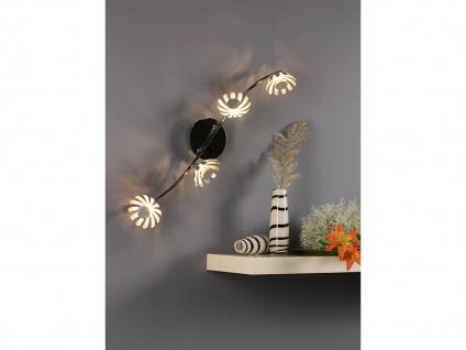 Vierflammige florentiner Blumen Motiv LED Deckenlampe aus Metall in Blattsilber - Vorschau 4
