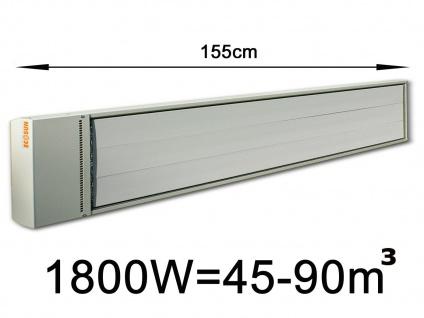 1800W Industrie-Strahlungsheizung f. Räume 45-90m³, pulverbeschichtet