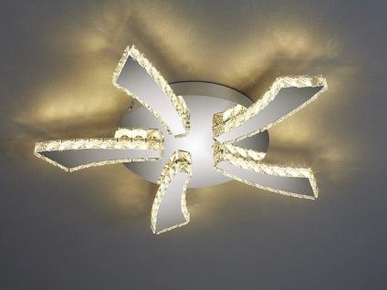 Flache LED Deckenleuchte rund PHIN mit 3fach Color Switch Metall in Chrom Ø 55cm - Vorschau 5