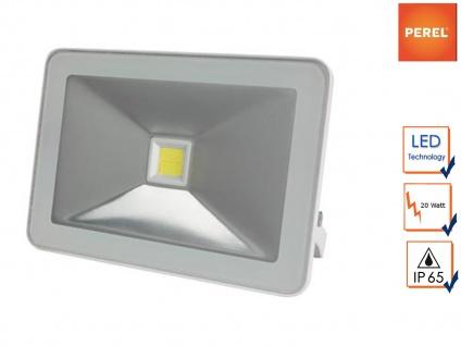 LED Fluter 20W warmweiß Baustrahler, Scheinwerfer Arbeitsleuchte Strahler weiß