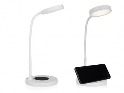 LED Tischleuchten SET mit schwenkbarem Spot, Touchdimmer & QI-Geräte Aufladung