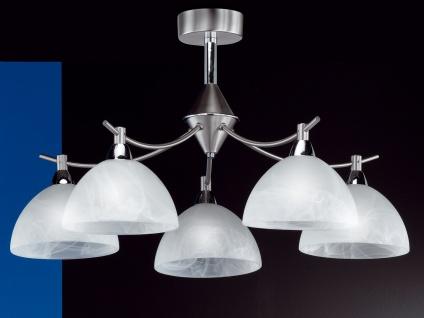 Deckenleuchte AMSTERDAM, Nickel matt, Glas weiß, Chrom, Honsel-Leuchten