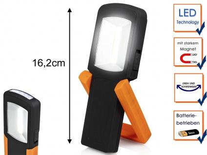 LED Handlampe & Taschenlampe mit Stativ, Magnet & Haken - Multifunktionsleuchte