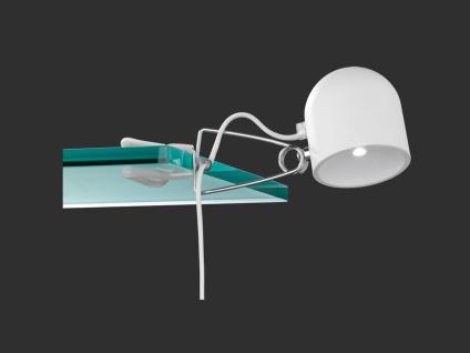 Trio Quidam Wandleuchte/ Klemmleuchte weiß SMD 4, 5W LED Touchfunktion - Vorschau 2