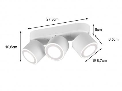 LED Deckenstrahler 3-flammig Weiß schwenkbare Deckenlampen für Flur und Diele - Vorschau 3