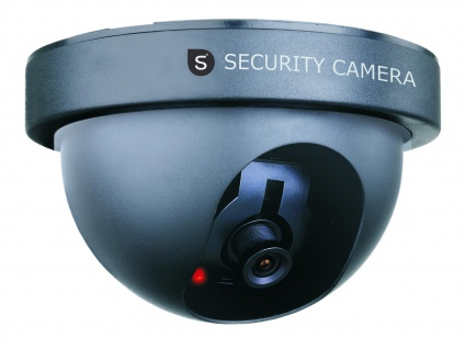 Domekamera Atrappe Dummy-Kamera, mit Blink-LED, batteriebetrieben