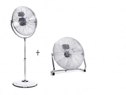 Set Großer Stehventilator & Bodenventilator Ø 45cm ? Tischlüfter Winderzeuger - Vorschau 2