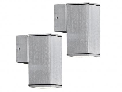2er-Set Aluminium-Wandleuchte MONZA, GU10-Sockel, H: 13, 5 cm, IP44