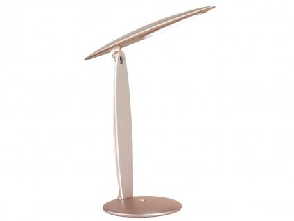 LED Schreibtischleuchte Goldfarbig Kopf neigbar USB Anschluß Bürolampen Diele - Vorschau 2