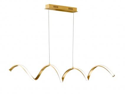 Höhenverstellbare LED Pendelleuchte Gold dimmbar 32W L. 102cm - Esstischlampen