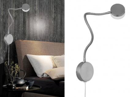 Moderne LED Leseleuchte Wandleuchte flexibel, Wandlampe mit Schalter, Leselampe
