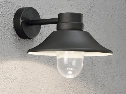 LED Außenwandleuchte VEGA schwarzes Aluminium, dimmbar, 700 Lm