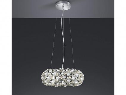 Dekorative Pendelleuchte mit Spiegelapplikationen aus Metall in glänzendem Chrom