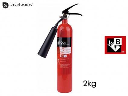 CO2-Feuerlöscher 2kg, Brandschutzklasse B, Brandschutz Gewerbe & Heim