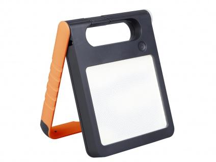 Universal LED Solarleuchte mit USB Ein- & Ausgang dimmbar IP44 H. 18cm Orange - Vorschau 2