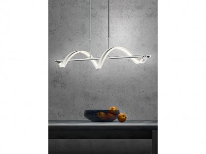LED Pendelleuchte Hängelampe SYDNEY, Chrom, Acryl, L. 103 cm, dimmbar, Trio