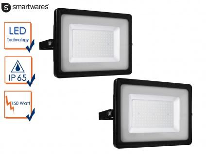 2 Stk. LED Strahler Aluminium 150W IP65 Fassadenbeleuchtung Wandstrahler außen