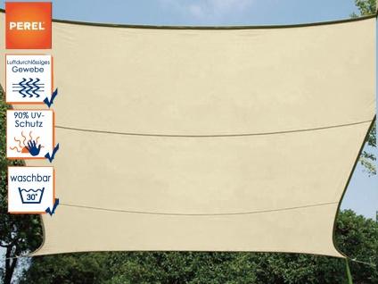 Sonnensegel Viereck champagner 25 m², Sonnenschutz für Terrasse, Terrassensegel