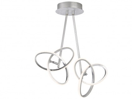 LED Deckenleuchte Blattsilber-Optik 26W verstellbar - Designerleuchte Esszimmer