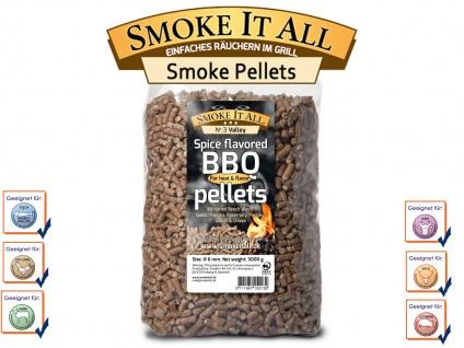 BBQ Grill Pellets Räucherpellets Buchenholz mit Gewürzen 3, 0 kg