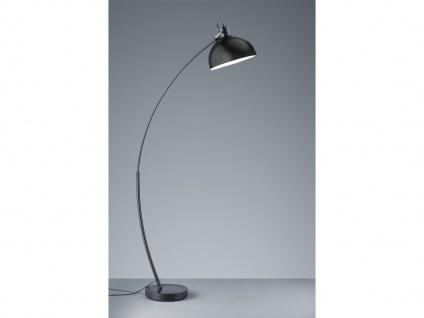 Ausgefallene Stehleuchte moderne Bogenlampe für über Esstisch Wohnzimmer Schwarz