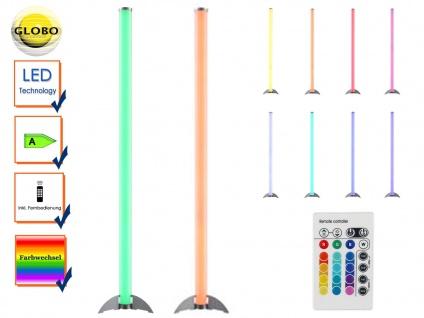 2x Globo LED Stehleuchte ROCKY, Fernbedienung, Farbwechsel, Partylicht, dimmbar