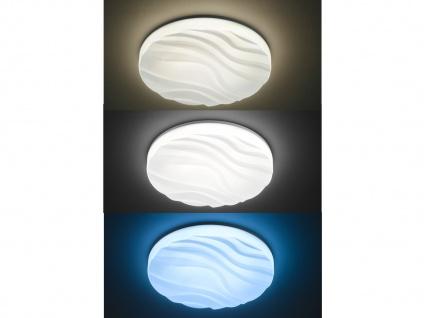 Runde LED Deckenleuchte flach, Ø 70 cm Fernbedienung für Dimmer & Farbtemperatur - Vorschau 3