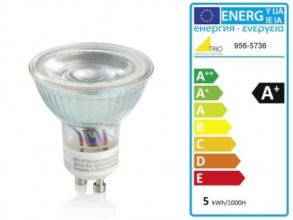 4 flammiger Industrial LED Deckenstrahler dimmbar - Holz & mit Metall rostfarben - Vorschau 3