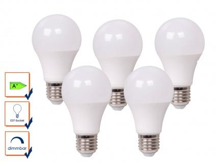 5er Set LED Leuchtmittel 9 Watt, 806 Lumen, 2700 Kelvin, E27-Sockel, dimmbar - Vorschau 1