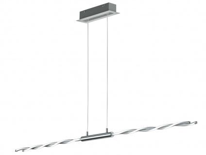 LED Pendelleuchte Chrom poliert 28W mit Switch Dimmer - Hängeleuchten Wohnzimmer